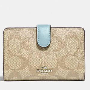 Coach Medium Corner ZIP Wallet in Signature Canvas